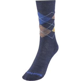 Smartwool Diamond Jim Chaussettes Homme, deep navy heather-desert sand heather